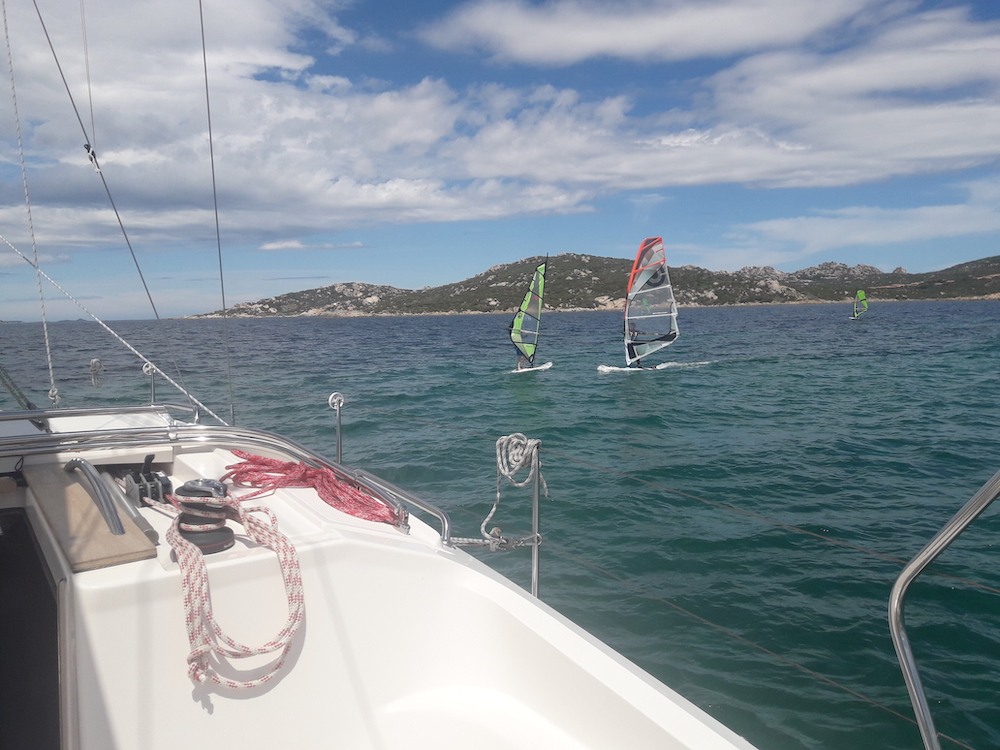 barca a vela e windsurf